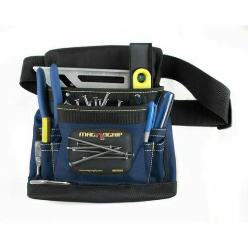 MagnoGrip Magnetic Tool Pouch Small Tools Nails Magnet Carpenter#x27;s Bag BLUE NEW