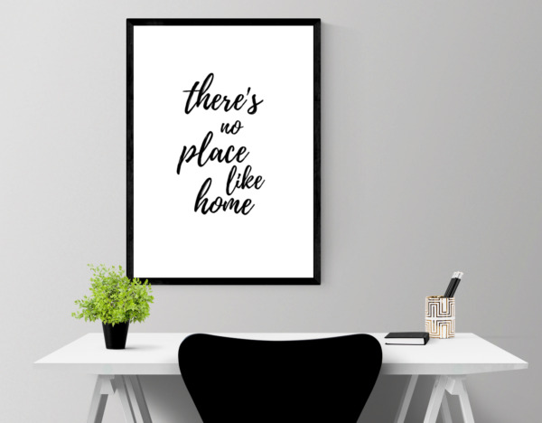 Home print - Theres no place like home wall art - be a pineapple prints