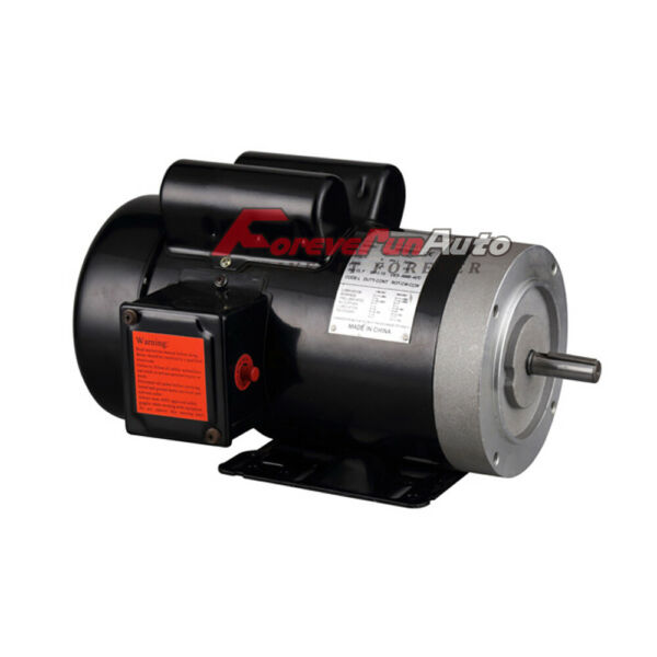 New 2 HP Electric Motor 56C Single Phase TEFC 115 230 Volt 3450 RPM $170.90