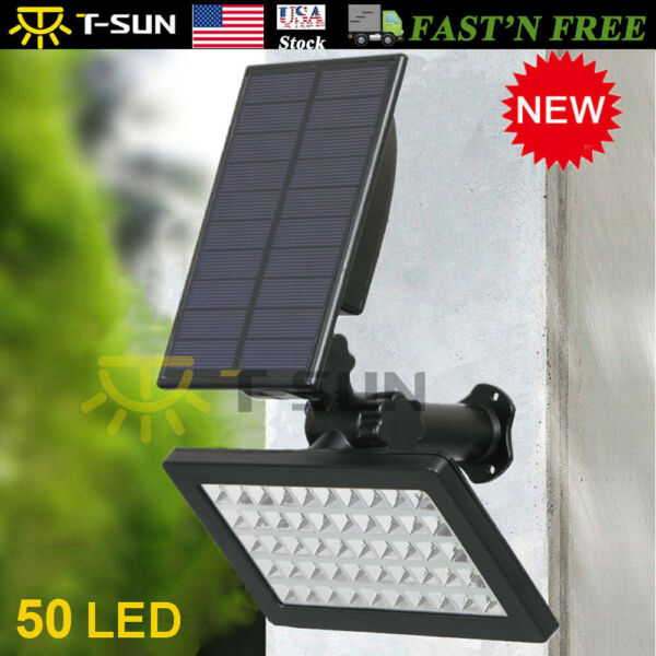 Solar Power 50-LED Spotlight Landscape Lights Outdoor Garden Pathway Lamp 960LM