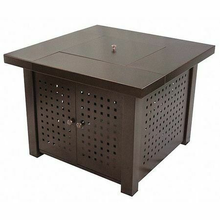 PLEASANT HEARTH OFG418TA Fire Pit TableGasEdenBronze38