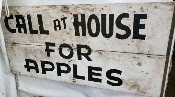 Antique Trade Sign Apples Produce