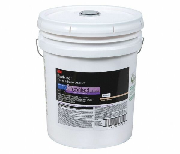 3M Fastbond Contact Adhesive 2000NF Light Orange 5 Gal Pail