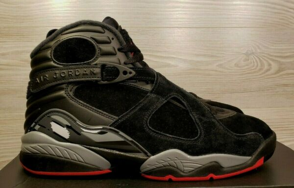 Nike Air Jordan 8 VIII Retro Bred Black Cement Gym Red Grey 305381-022 Pick Size
