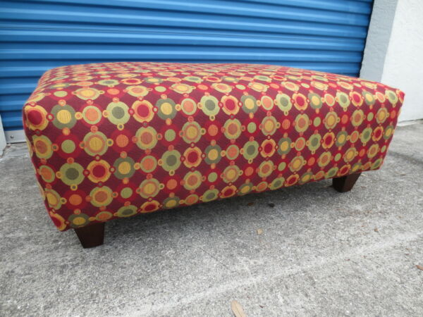 LG Ottoman Coffee Table Modern Contemporary Footstool Footrest Red cottage