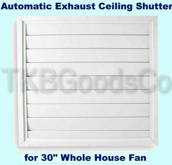 Automatic Ceiling Shutter for Whole House Fan Gravity Exhaust 32