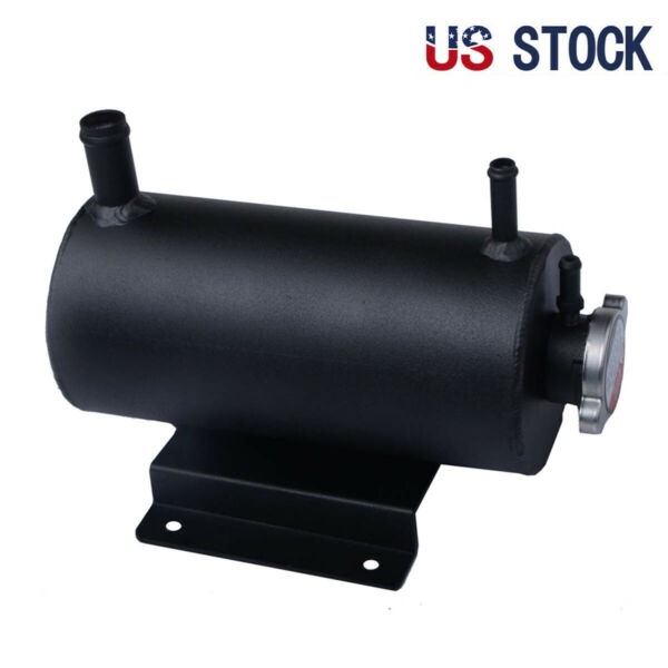 1.5L Universal Aluminum Coolant Water Expansion Tank Bottle Header Black $85.00