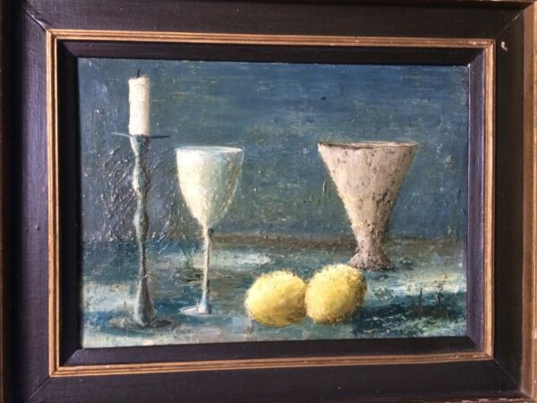 Art Master Old Painting In Canvas  Lemon  Candle Cup