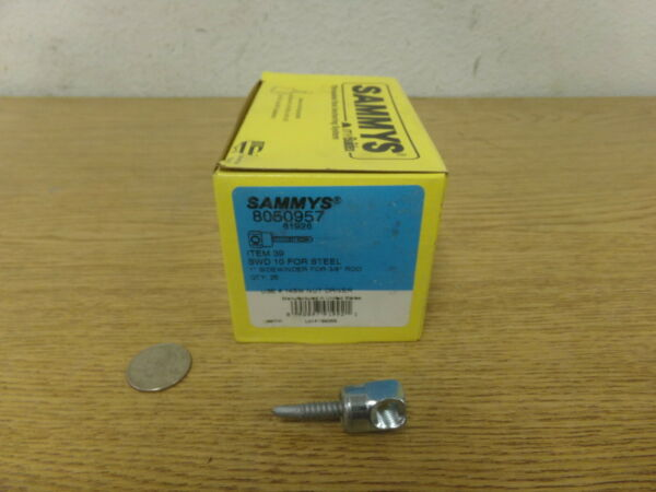 NEW Sammys Lot of 25 8050957 SWD 10 for Steel 1