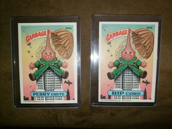 1987 Garbage Pail Kid Cards #344 ab PERRY ChuteRIP Cord ~MINTAUTHENTIC CARDS