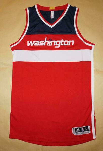 Washington Wizards NBA Adidas Men's Red Authentic Jersey - L, XL