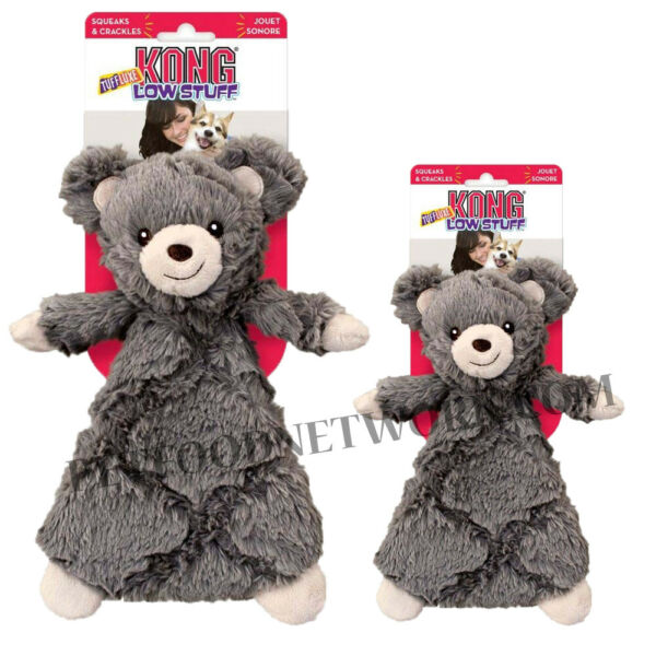 KONG Low Stuff Tuffluxe Bear Dog Toy   Free Shipping
