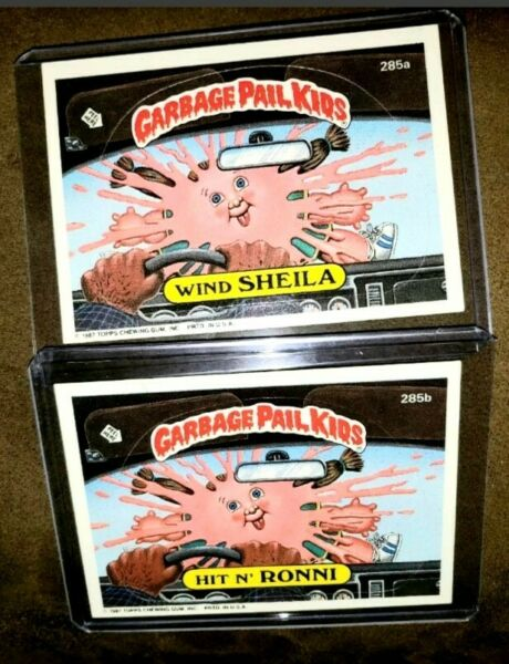 ~AUTHENTIC~ 1987 Garbage Pail Kid Cards #285ab Wind SHEILAHit N' RONNI ~MINT~