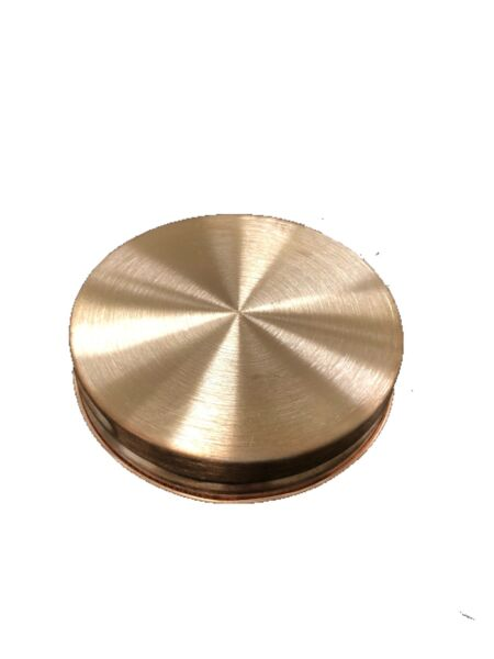 Wide Mouth Pure Copper Mason Jar Lid w Gasket Make Your Own Thumper Distilling
