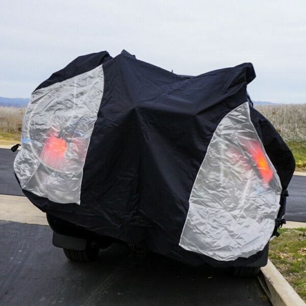 Travel Bike Cover for Transport on Rack w Large Translucent Ends 3 Sizes $54.00