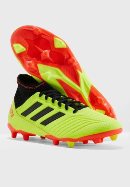 Mens Soccer Cleats ADIDAS PREDATOR 18.3 FLEXIBLE GROUND CLEATS Yellow Cleats NEW