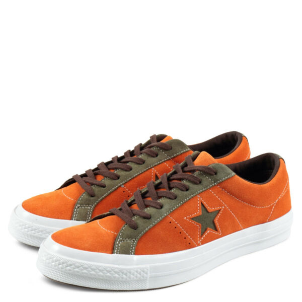 Converse One Star Ox 161617C Bold Mandarin/Field Surplus Sizes 8 9 10 11.5 12