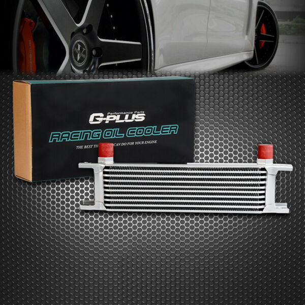 10 Row Universal Engine Aluminum Transmission AN-10AN Oil Cooler For Japan Cars