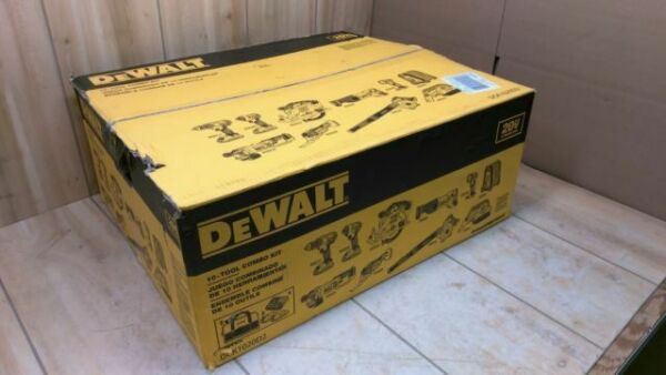 NEW DEWALT DCK1020D2 Combo Kit 20-Volt Max Lithium-Ion Cordless 10 Power Tools