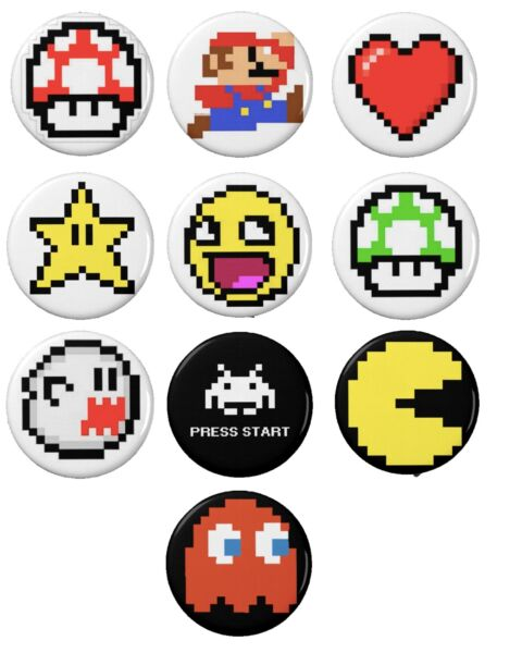 8 Bit Gaming Button Set 10 1 1 4#x27;#x27;
