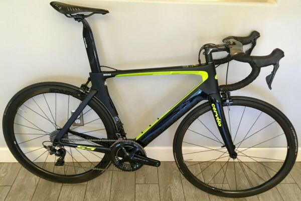 2018 Cervelo S5 Road Bike Shimano Dura Ace 9100 11 Speed Black  Green Size 56cm