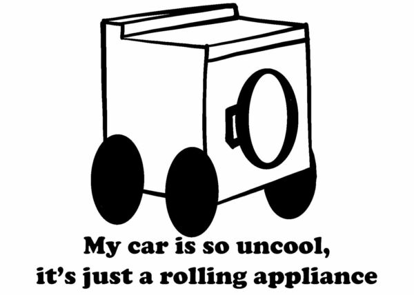 Rolling Appliance Vinyl Decal