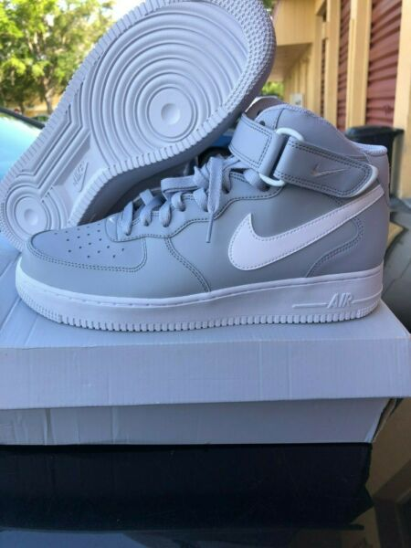 New Men's Nike Air Force 1 Mid '07 315123 033 Wolf Grey Basketball Shoes Size 9