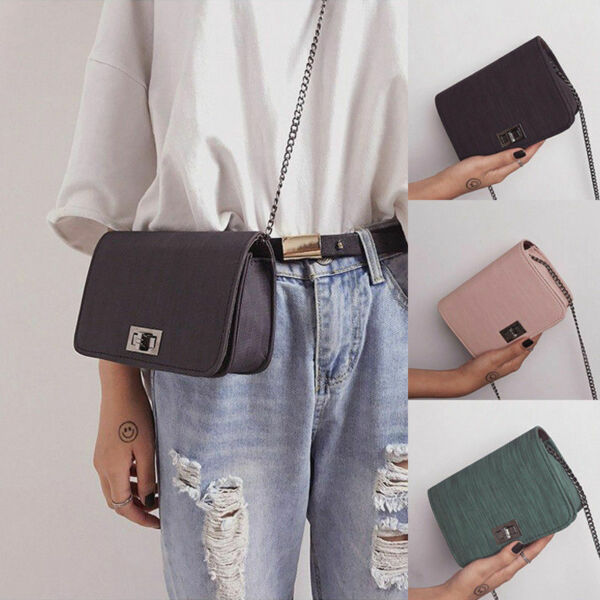 22 Colors Women Lady Cross Body Shoulder Bag Leather Casual Handbag Small Bag $7.99