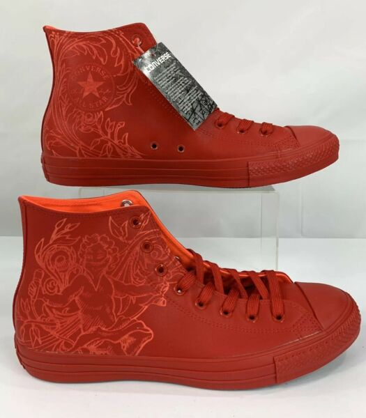Converse Chuck Taylor All Star Red Singing Cupid  Hi Top Men's Size 12 New