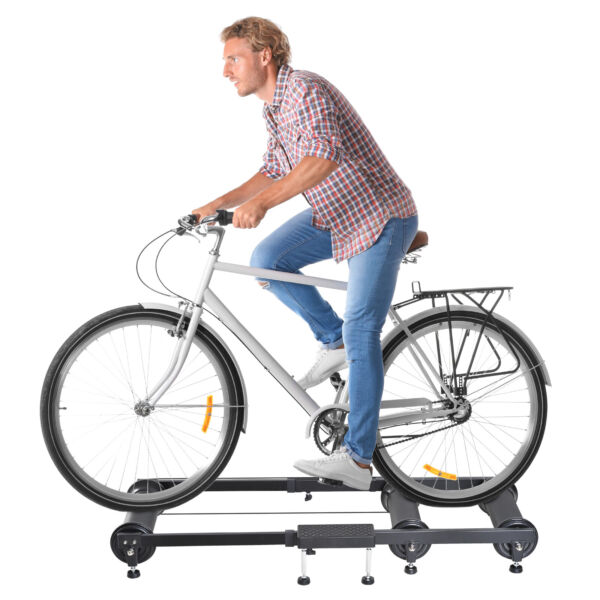 Soozier Indoor Bike Trainer Portable Exercise Bicycle Foldable Roller Stand $65.99