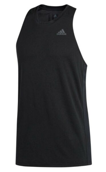 Adidas Men Own the Run Singlet Sleeve Jersey Black Running Tank Top Shirt DQ2523