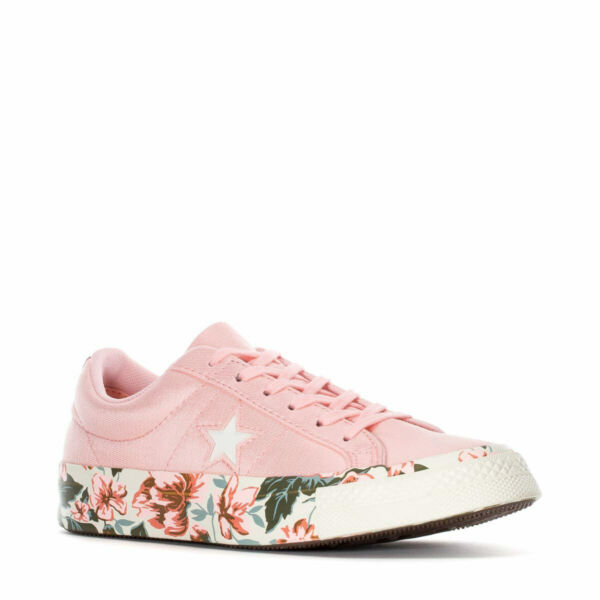 Converse Womens One Star Ox Parkway Floral Canvas Pink/Egret 262822C Size 7