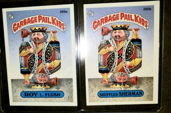 1987 Garbage Pail Kid Cards #266ab ROY L FlushShuffled SHERMAN *MINTAUTHENTIC