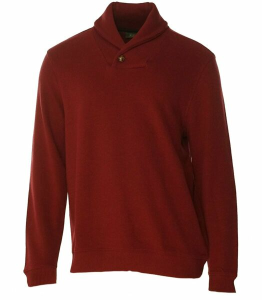 Tasso Elba Mens Ribbed Shawl Collar Pullover Sweater Red XXL