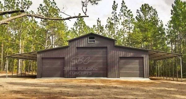 Metal Building Steel Pole Barn Kit Prefab 5 Car Garage Shop 66x36 FREE INSTALL