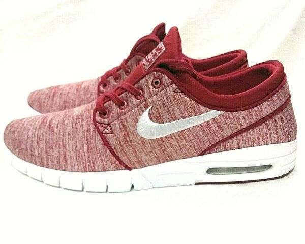 Nike SB Stefan Janoski Max (631303-603) Size 11 Red Crush/White Casual Sneakers