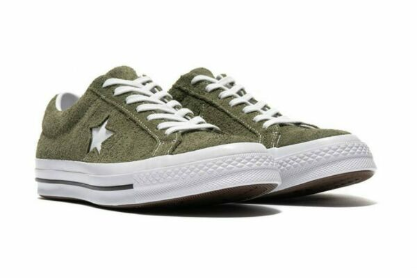 Converse Mens One Star Ox Suede 161576C Field Surplus (Olive) / White Size 8.5