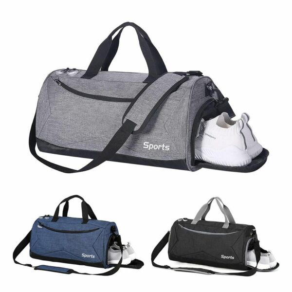 35L Travel Duffle Bag Men's Tote Sport Gym Overnight Luggage wShoes Compartment