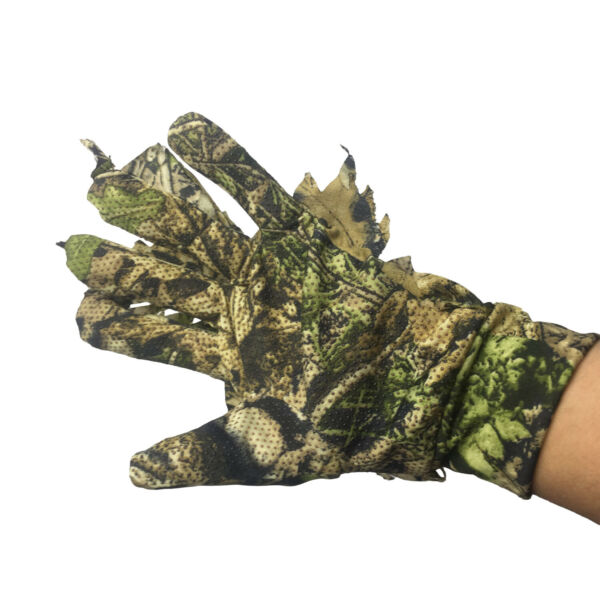 3D Leaf Camouflage Sneaky Gloves Hunting Woodland Jungle Stealth Ghillie Gloves