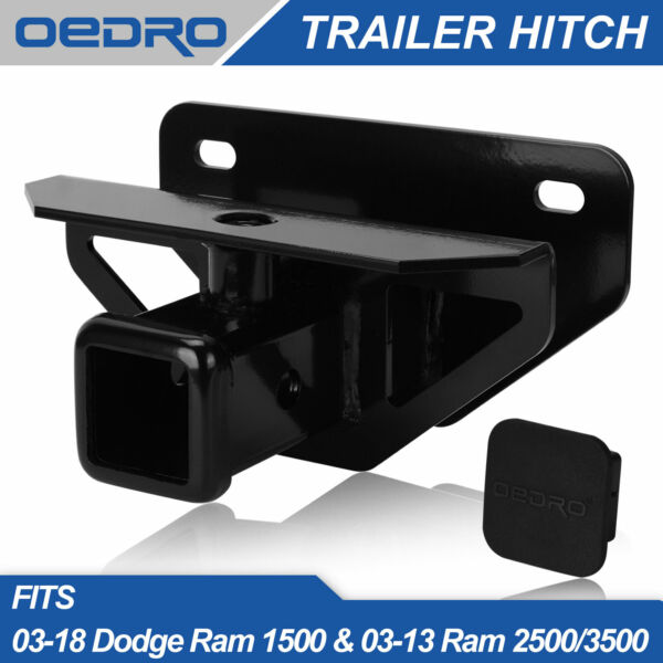 Towing Trailer Hitch Receiver for 2003 2018 Dodge Ram 1500 2500 3500 Class 3 $37.99