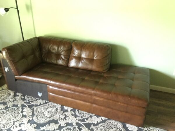 Right Bumper Chaise to City Furniture Sectional Top Grain Leather $299.00