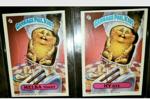 *AUTHENTIC* 1986 Garbage Pail Kid Cards  #143 a&b