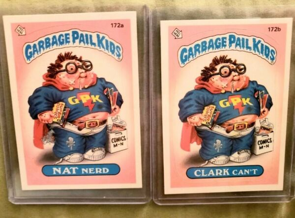 *AUTHENTIC* 1986 Garbage Pail Kid Cards #172 AB NAT NERDCLARK CANT. NMMINT