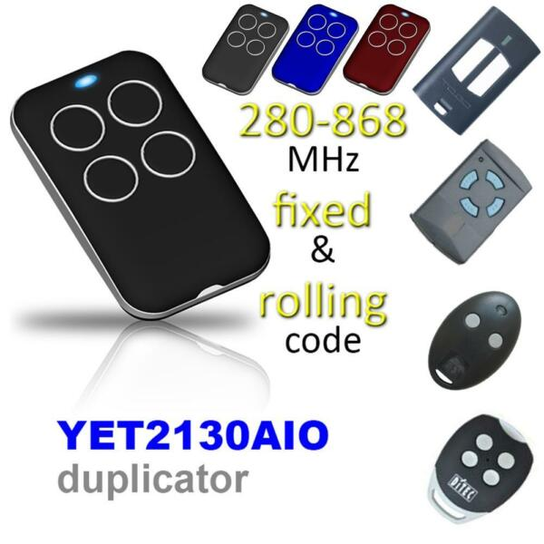 Universal Multi-Frequency Automatic Cloning Garage Gate Door Remotes Openers