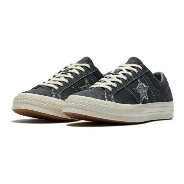 Converse Mens One Star Ox Sunbaked Canvas 164360C Black/Mason/Egret  Various Siz