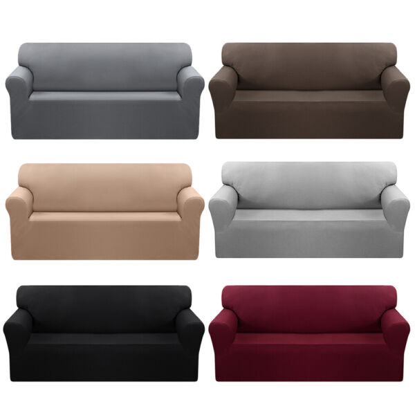 Waterproof Non-Slip Slipcover 1 2 3 4 Seater Stretch Chair Sofa Cover Protector $20.99