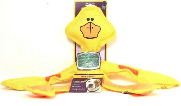 1 Ct Multipet Tuff Enuff Yellow Duck Squeaks Rugged Rope Designed To Last Toy