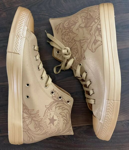 Converse Chuck Taylor All Star Gold Singing Cupid  Men's 12 Hi Top 1HASH Wheat