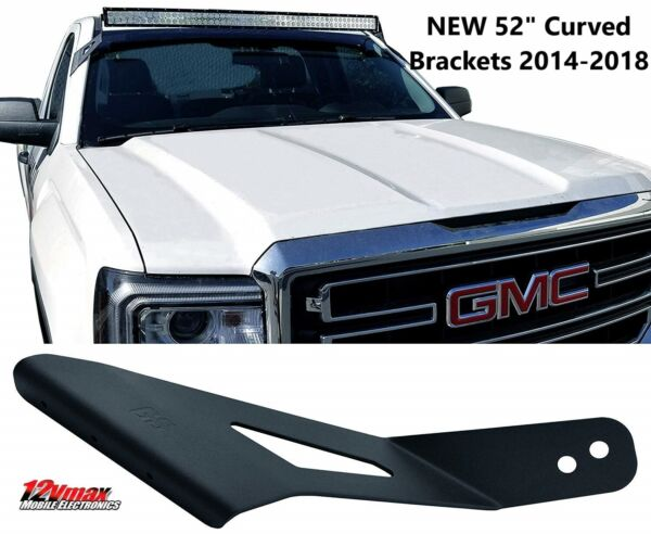 ALL NEW 2014 2018 GMC Chevy LED Mounting Brackets 52quot; Curved LED Bar GM52C2