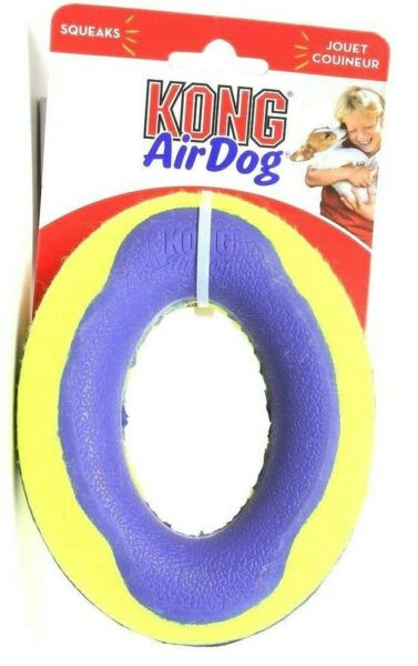 1 Ct Kong Air Dog Fun Erratic Bounce Nonabrasive Medium Oval Squeaker Dog Toy
